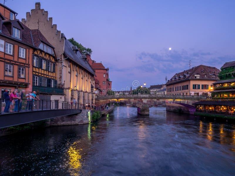 Ανεπαρκής ποταμός στη λεπτοκαμωμένη Γαλλία, Στρασβούργο στοκ φωτογραφία με δικαίωμα ελεύθερης χρήσης