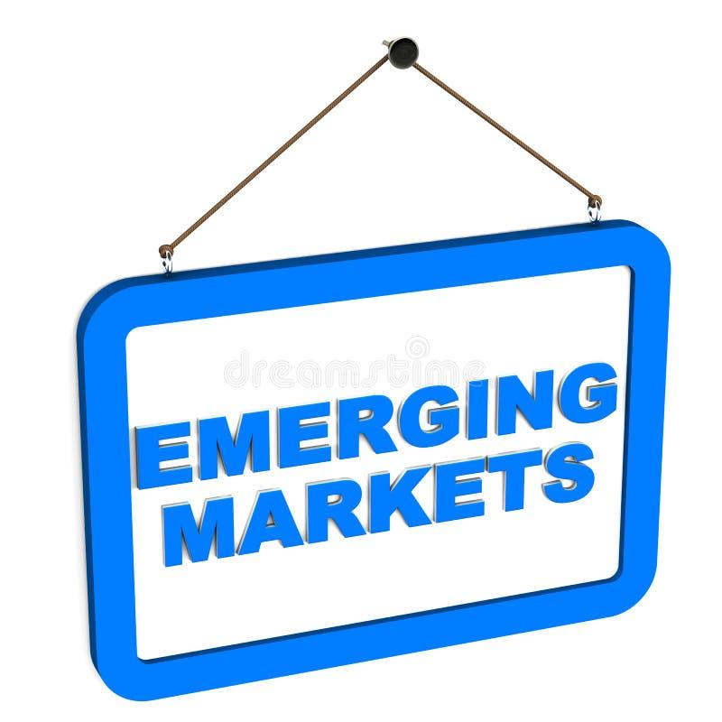 Ανερχόμενες αγορές ελεύθερη απεικόνιση δικαιώματος