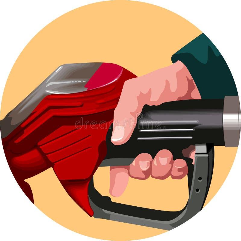 Ανεφοδιασμός σε καύσιμα ελεύθερη απεικόνιση δικαιώματος
