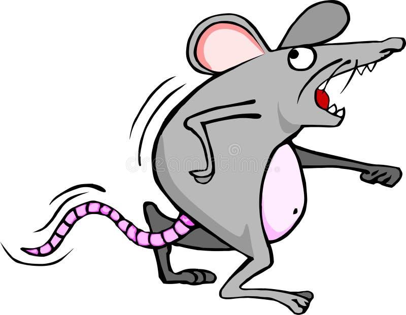 Ανησυχημένο ποντίκι ελεύθερη απεικόνιση δικαιώματος