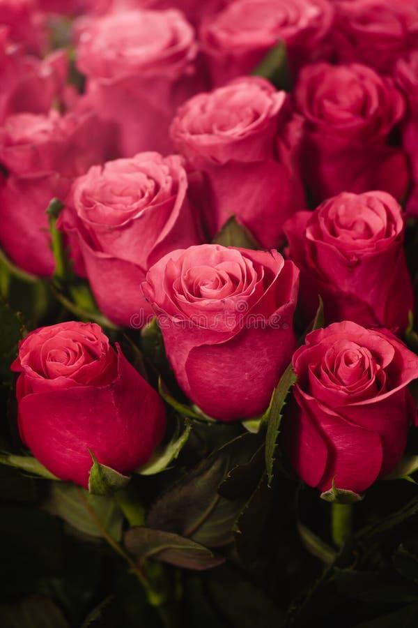 Ανθοδέσμη της κάρτας τριαντάφυλλων στοκ εικόνες