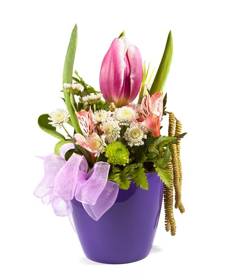 Ανθοδέσμη των λουλουδιών vase στοκ εικόνα με δικαίωμα ελεύθερης χρήσης