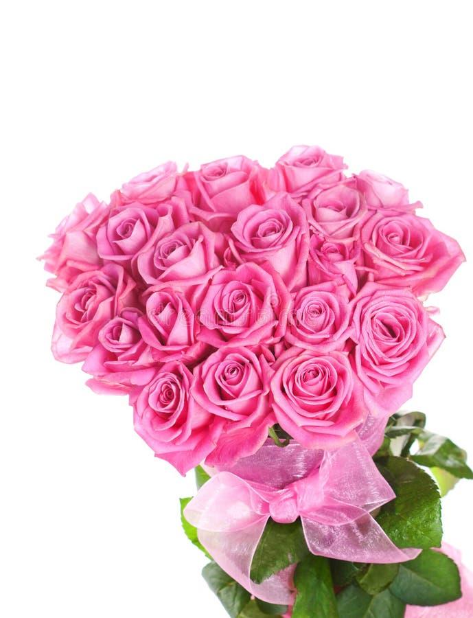 Ανθοδέσμη των ρόδινων τριαντάφυλλων στοκ εικόνες