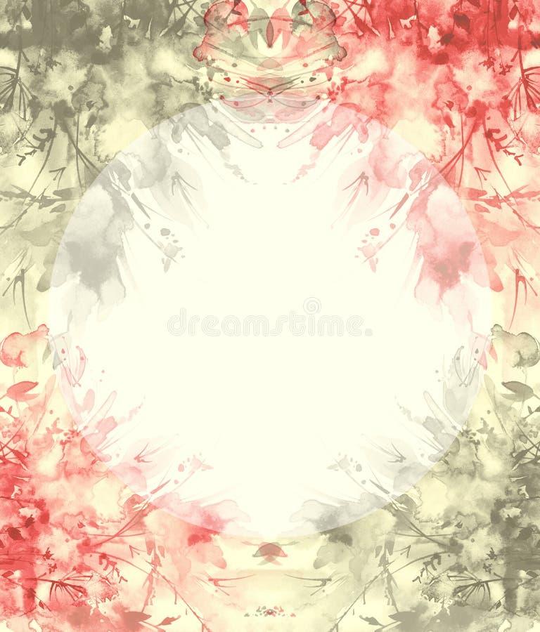 Ανθοδέσμη Watercolor των λουλουδιών, όμορφος αφηρημένος παφλασμός του χρώματος, απεικόνιση μόδας Λουλούδια ορχιδεών, παπαρούνα, c διανυσματική απεικόνιση