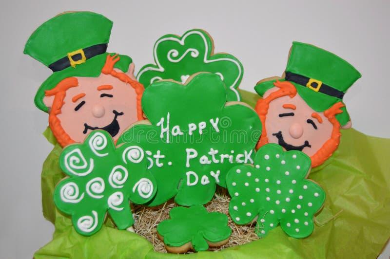 Ανθοδέσμη μπισκότων ζάχαρης ημέρας του ST Patricks στοκ φωτογραφία με δικαίωμα ελεύθερης χρήσης
