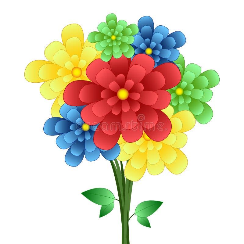 Ανθοδέσμη των λουλουδιών απεικόνιση αποθεμάτων