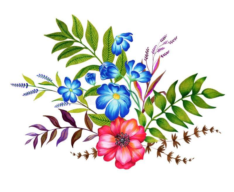 Ανθοδέσμη των λουλουδιών ελεύθερη απεικόνιση δικαιώματος