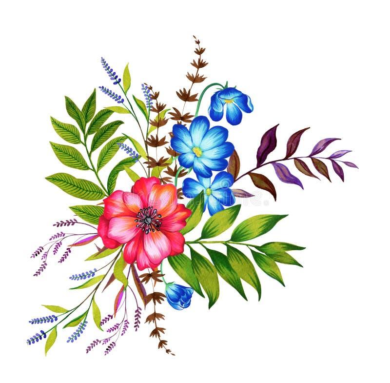 Ανθοδέσμη των λουλουδιών διανυσματική απεικόνιση