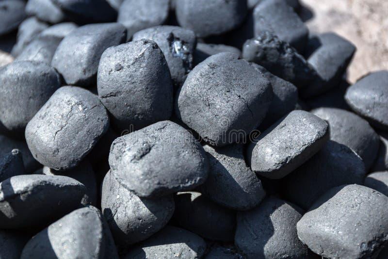 Ανθρακόπλινθοι ξυλάνθρακα στοκ εικόνα με δικαίωμα ελεύθερης χρήσης