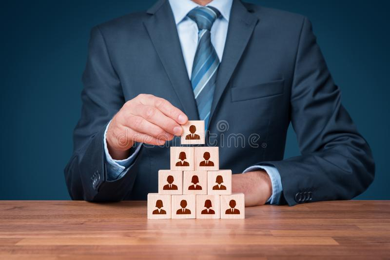 Ανθρώπινα δυναμικά και CEO στοκ εικόνα