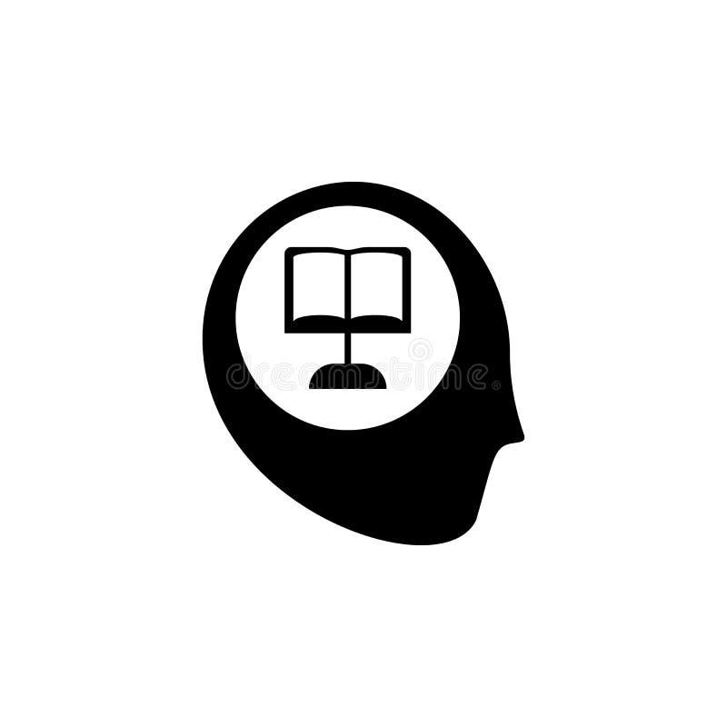 Ανθρώπινα κεφάλι και εικονίδια της επιστήμης Η έννοια των επιστημονικών ανακαλύψεων Η ιδέα της εκμάθησης Σύγχρονες τεχνολογικές λ απεικόνιση αποθεμάτων