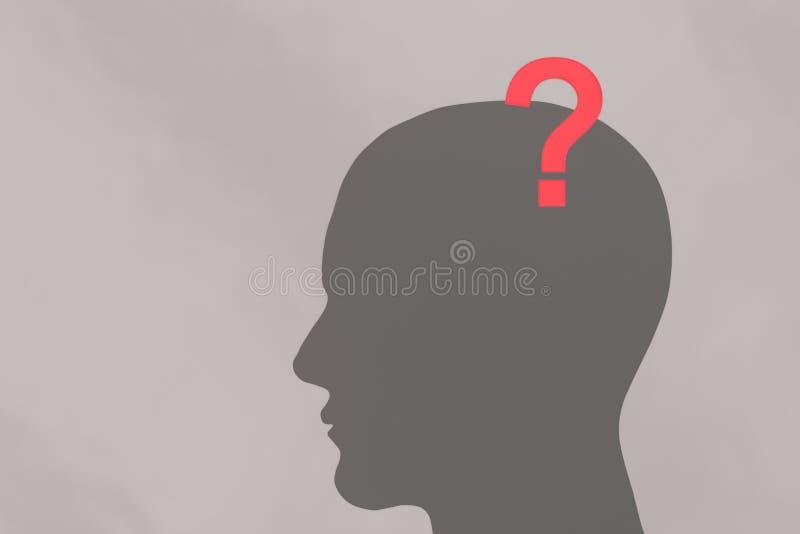 Ανθρώπινα κεφάλι και ερωτηματικό ελεύθερη απεικόνιση δικαιώματος