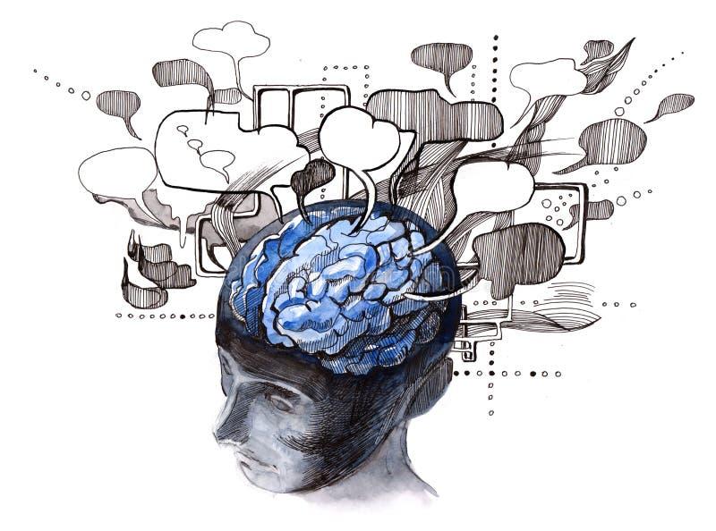 ανθρώπινα μυαλά διανυσματική απεικόνιση