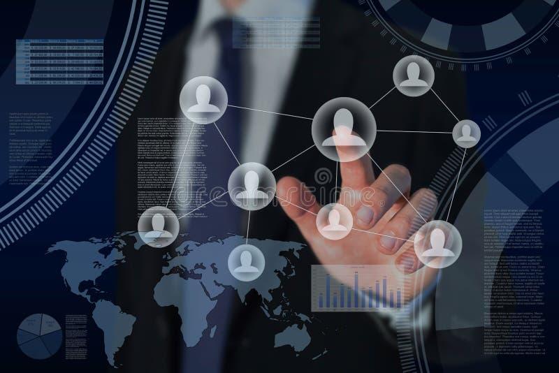 Ανθρώπινα δυναμικά και παγκόσμιο επιχειρηματικό πεδίο στοκ εικόνες