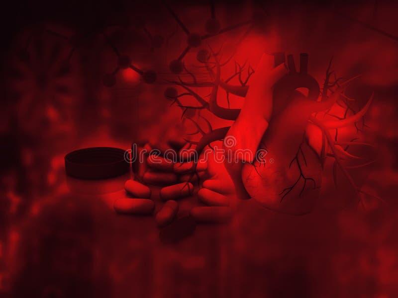 Ανθρώπινα φάρμακα καρδιών και διαποδιαμορφωτών απεικόνιση αποθεμάτων