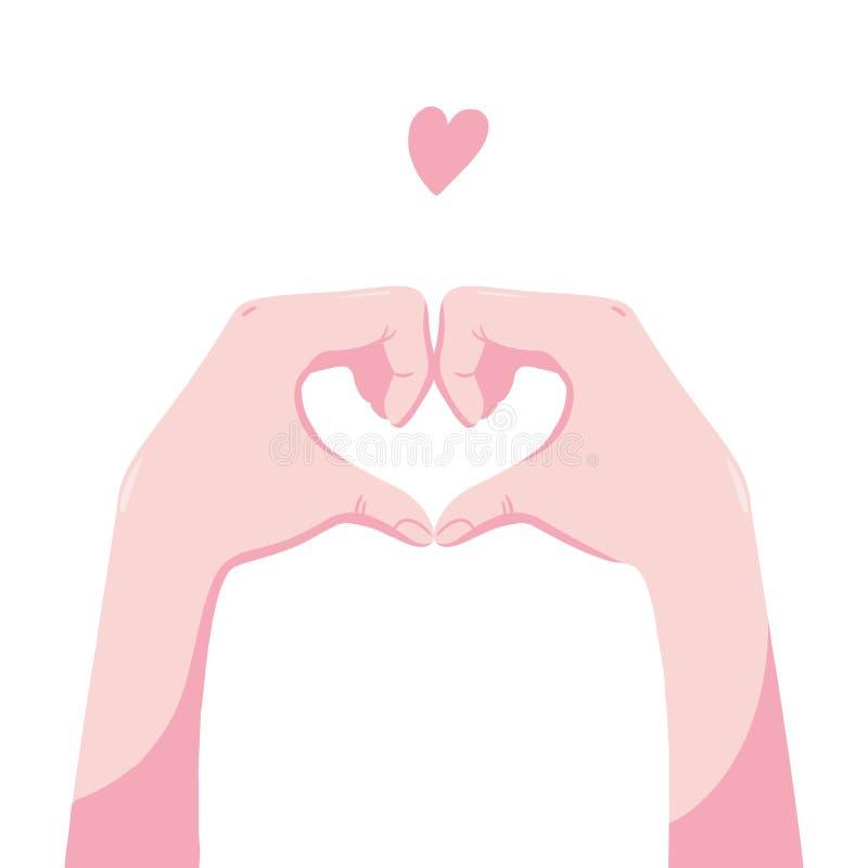 Ανθρώπινα χέρια που παρουσιάζουν μορφή της καρδιάς ελεύθερη απεικόνιση δικαιώματος