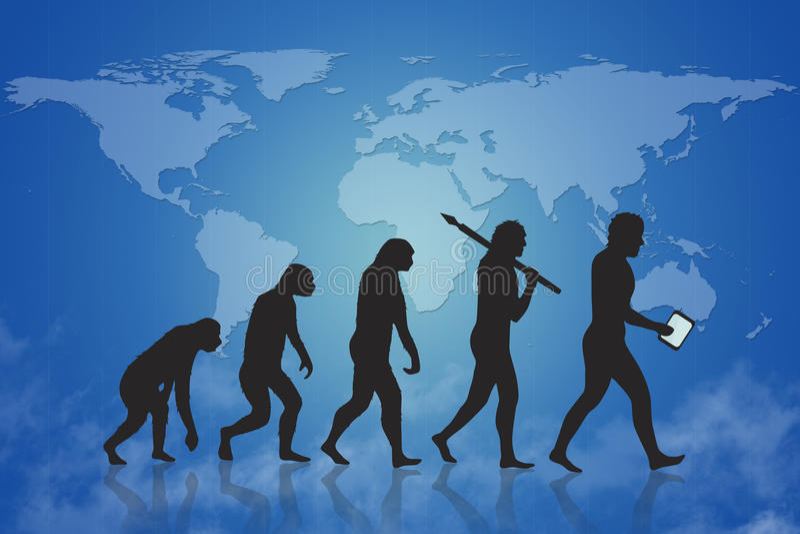 Ανθρώπινες εξέλιξη/αύξηση & πρόοδος απεικόνιση αποθεμάτων