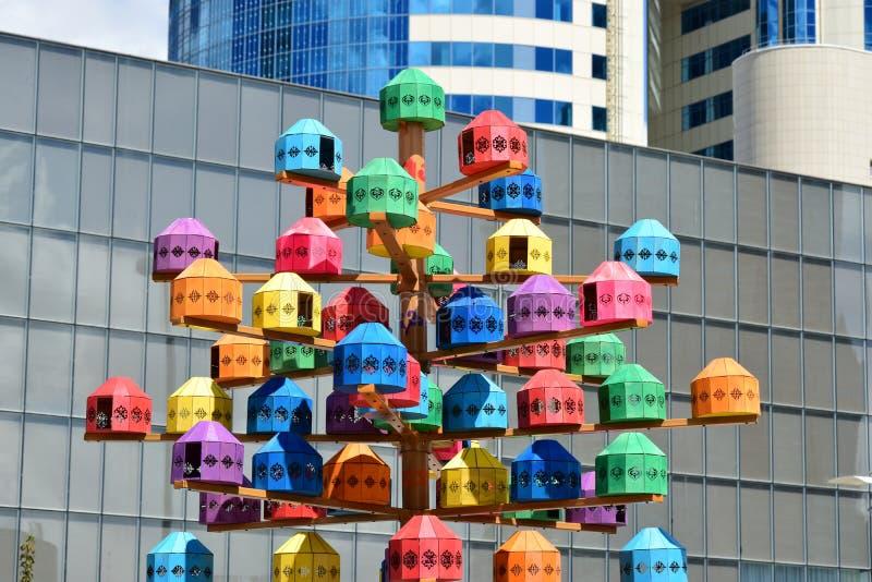 Ανθρώπινη ενέργεια φεστιβάλ 2016 τέχνης Astana για EXPO 2017 σε Astana στοκ εικόνες με δικαίωμα ελεύθερης χρήσης