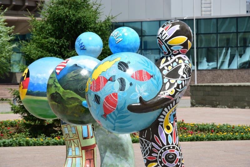 Ανθρώπινη ενέργεια φεστιβάλ 2016 τέχνης Astana για EXPO 2017 σε Astana στοκ εικόνες