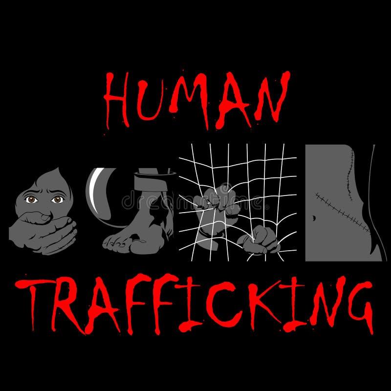 Ανθρώπινη ημέρα συνειδητοποίησης κίνησης, απεικόνιση τεσσάρων τύπων ανθρώπινης κίνησης ελεύθερη απεικόνιση δικαιώματος