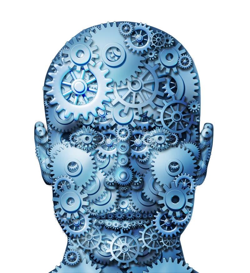 Ανθρώπινη μηχανή διανυσματική απεικόνιση