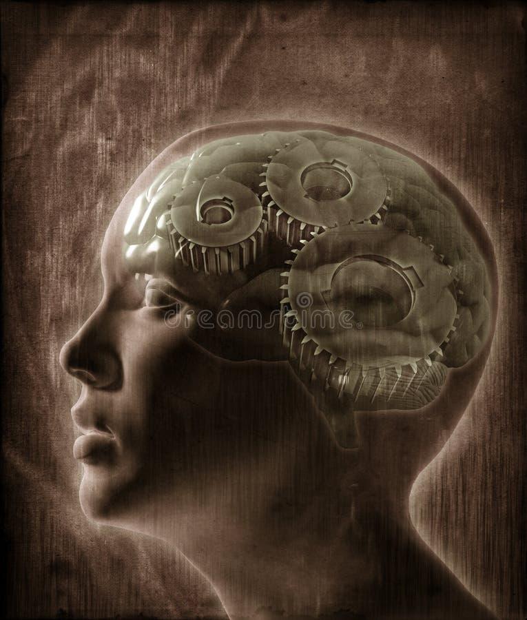 ανθρώπινη νοημοσύνη έννοια&sigma διανυσματική απεικόνιση