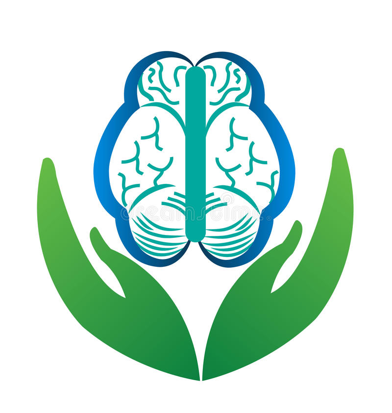 Ανθρώπινη προσοχή εγκεφάλου διανυσματική απεικόνιση