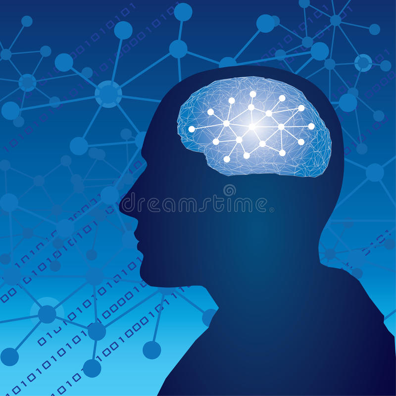 Ανθρώπινη σκέψη εγκεφάλου απεικόνιση αποθεμάτων
