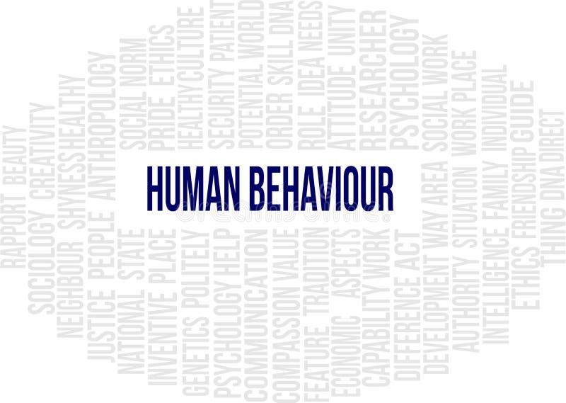 Ανθρώπινη συμπεριφορά - σύννεφο του Word ελεύθερη απεικόνιση δικαιώματος