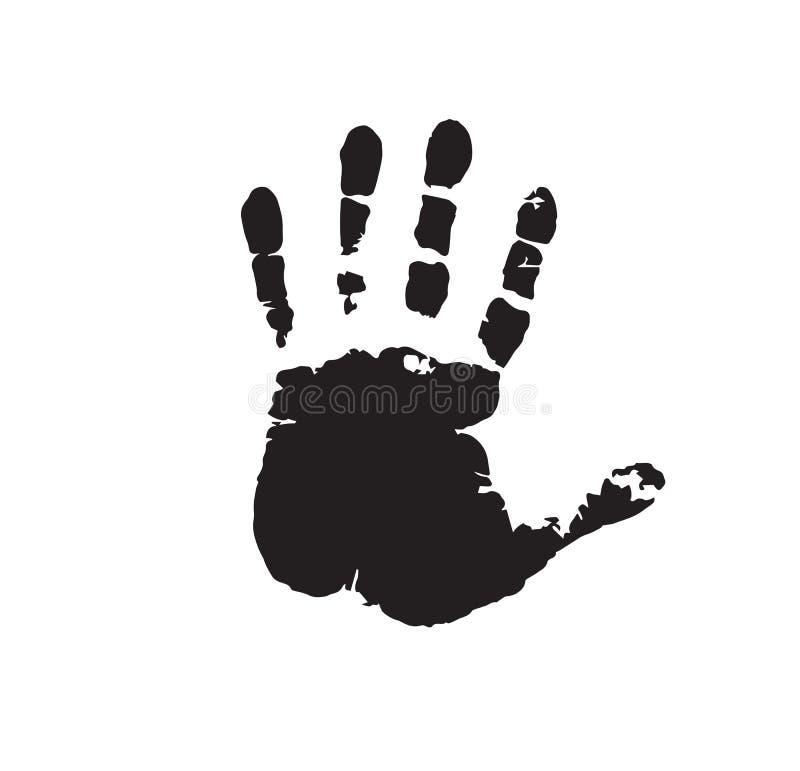 Ανθρώπινη τυπωμένη ύλη χεριών που απομονώνεται στο άσπρο υπόβαθρο απεικόνιση αποθεμάτων