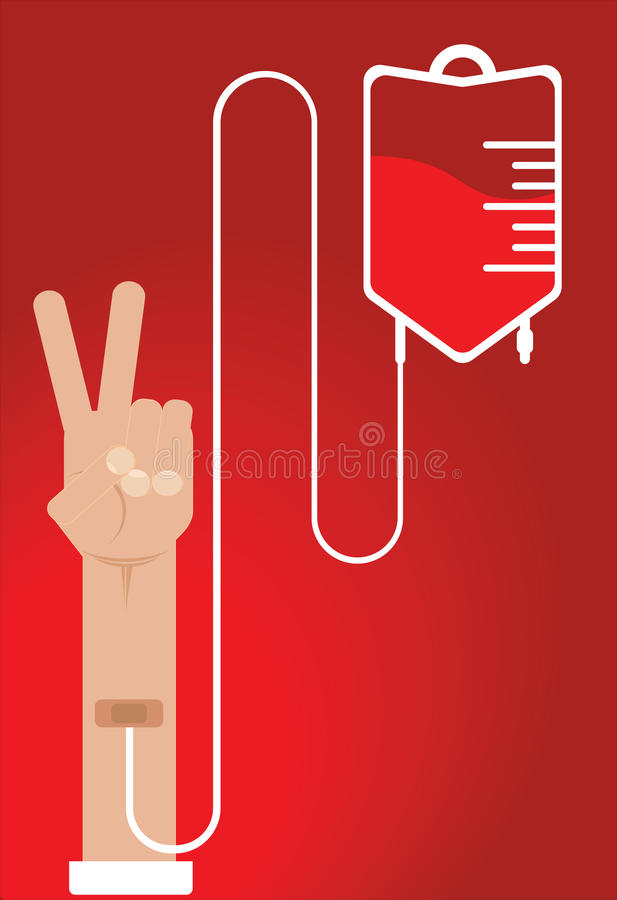 Ανθρώπινη δωρεά αίματος διανυσματική απεικόνιση