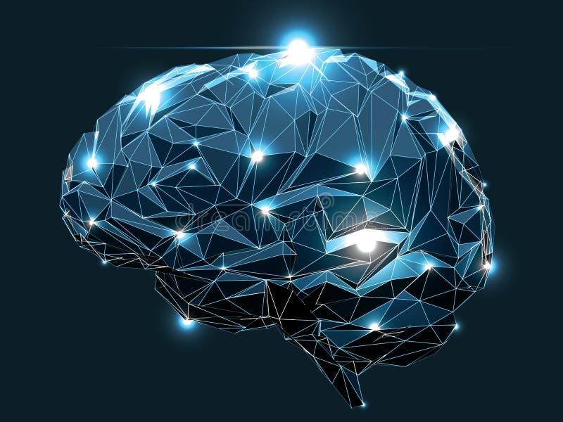 Ανθρώπινος εγκέφαλος διανυσματική απεικόνιση