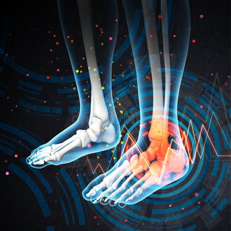 ανθρώπινος πόνος ποδιών απεικόνιση αποθεμάτων