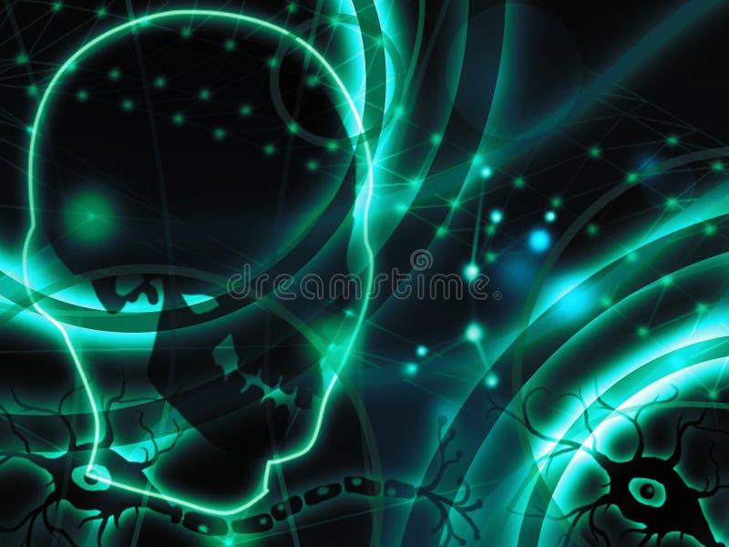 Ανθρώπινο αφηρημένο υπόβαθρο νευρώνων διανυσματική απεικόνιση