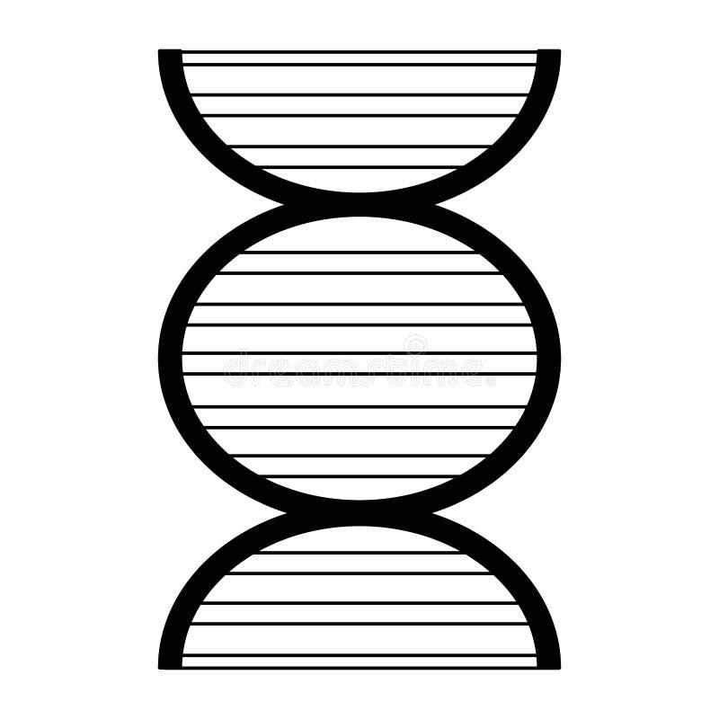Ανθρώπινο γενετικό σύμβολο DNA που απομονώνεται σε γραπτό απεικόνιση αποθεμάτων