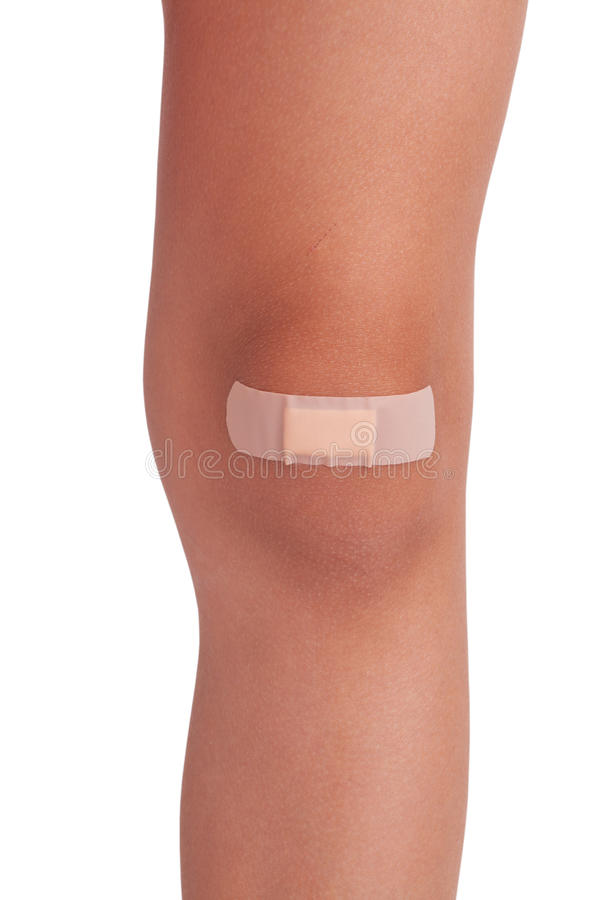 Ανθρώπινο γόνατο, σφραγισμένο ασβεστοκονίαμα στοκ εικόνα με δικαίωμα ελεύθερης χρήσης