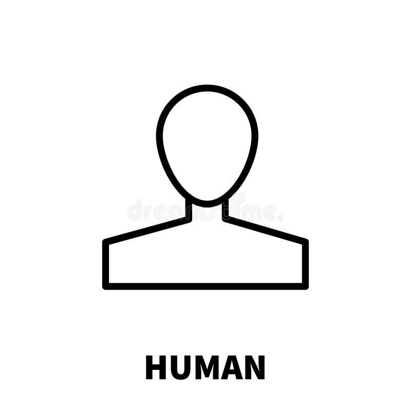 Ανθρώπινο εικονίδιο ή λογότυπο στο σύγχρονο ύφος γραμμών απεικόνιση αποθεμάτων