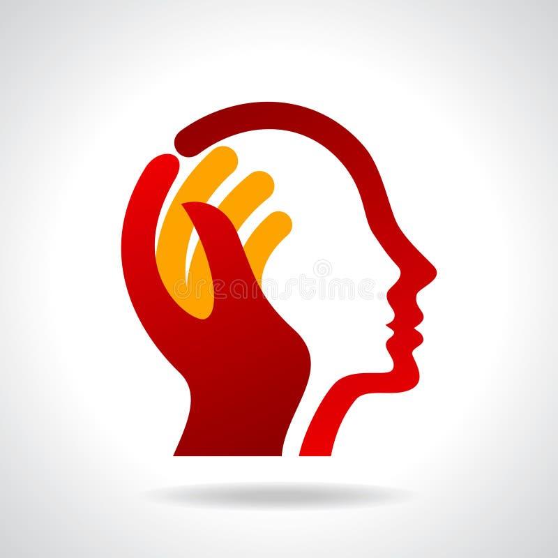Ανθρώπινο κεφάλι που σκέφτεται μια νέα ιδέα ελεύθερη απεικόνιση δικαιώματος
