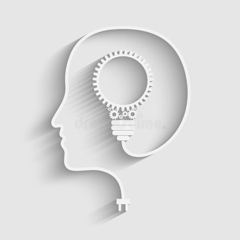Ανθρώπινο κεφάλι διανυσματική απεικόνιση