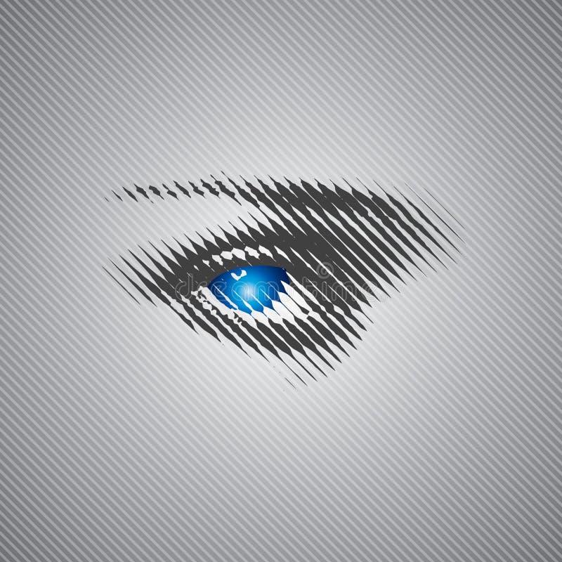 Ανθρώπινο μάτι ελεύθερη απεικόνιση δικαιώματος