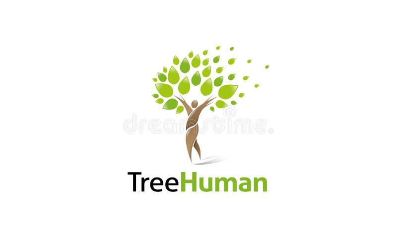 Ανθρώπινο λογότυπο δέντρων απεικόνιση αποθεμάτων