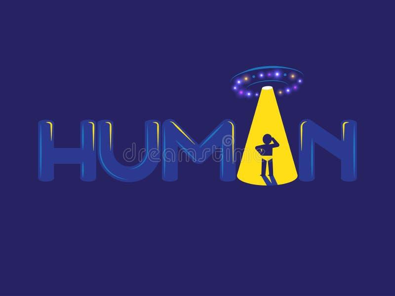 Ανθρώπινο λογότυπο UFO ελεύθερη απεικόνιση δικαιώματος