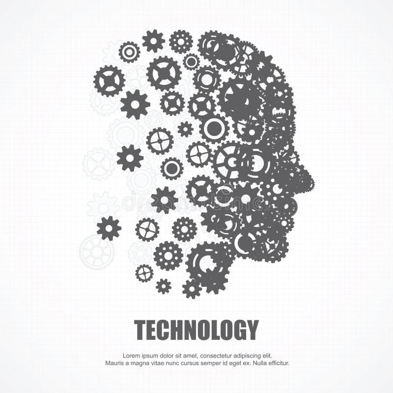 Ανθρώπινο πρόσωπο εργαλείων για την τεχνολογία ελεύθερη απεικόνιση δικαιώματος
