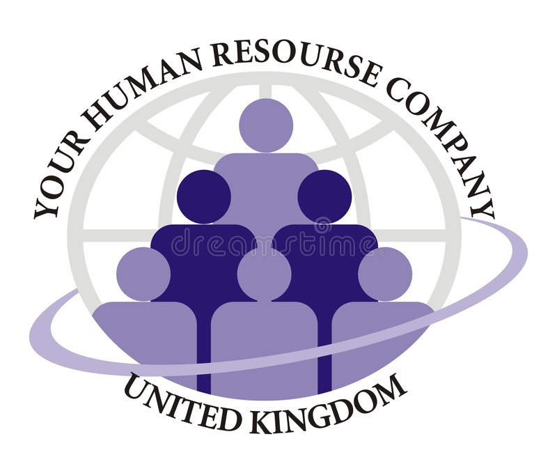 ανθρώπινο στοιχείο συμπεριφοράς λογότυπων επιχείρησης διανυσματική απεικόνιση