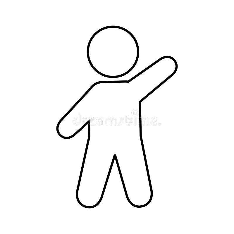 ανθρώπινο σχέδιο σκιαγραφιών αριθμού στοκ φωτογραφία με δικαίωμα ελεύθερης χρήσης
