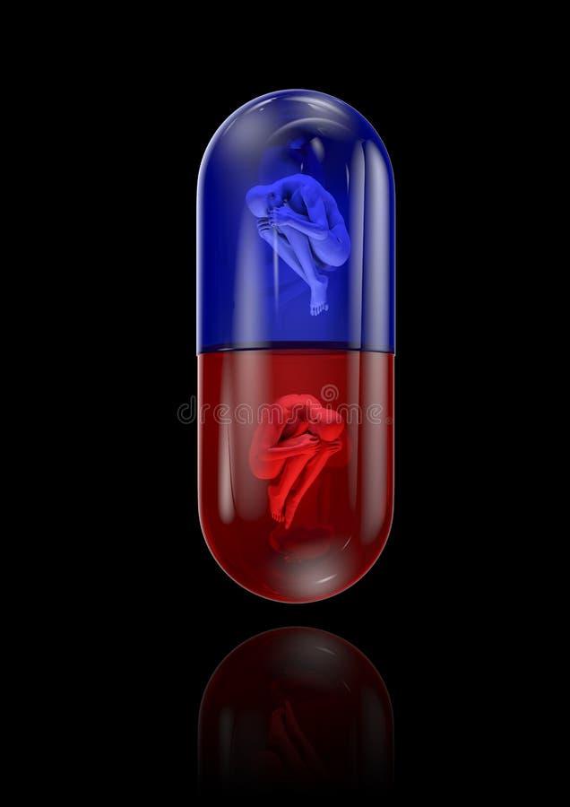 Ανθρώπινο χάπι Στοκ Εικόνες