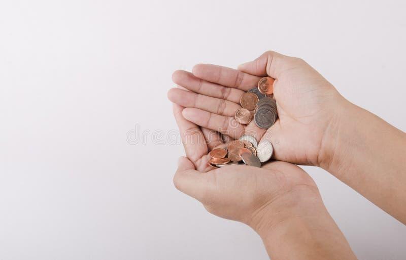 Ανθρώπινο χέρι και κενό πορτοφόλι - έσπασε στοκ φωτογραφία με δικαίωμα ελεύθερης χρήσης