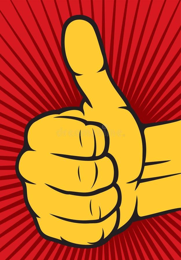 Ανθρώπινο χέρι που δίνει ο.κ. διανυσματική απεικόνιση
