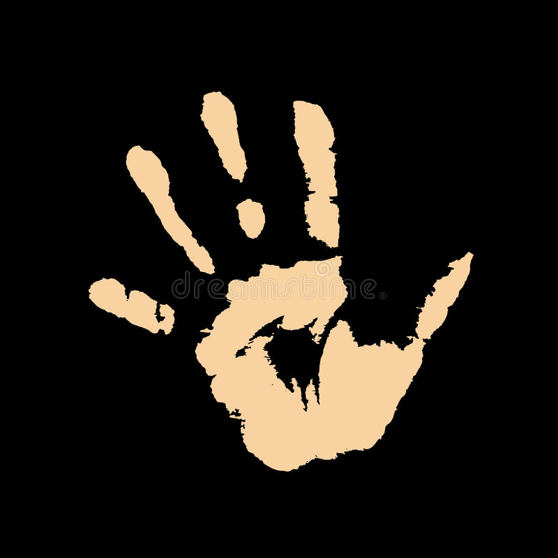 Ανθρώπινο χέρι στο μαύρο διάνυσμα υποβάθρου ελεύθερη απεικόνιση δικαιώματος