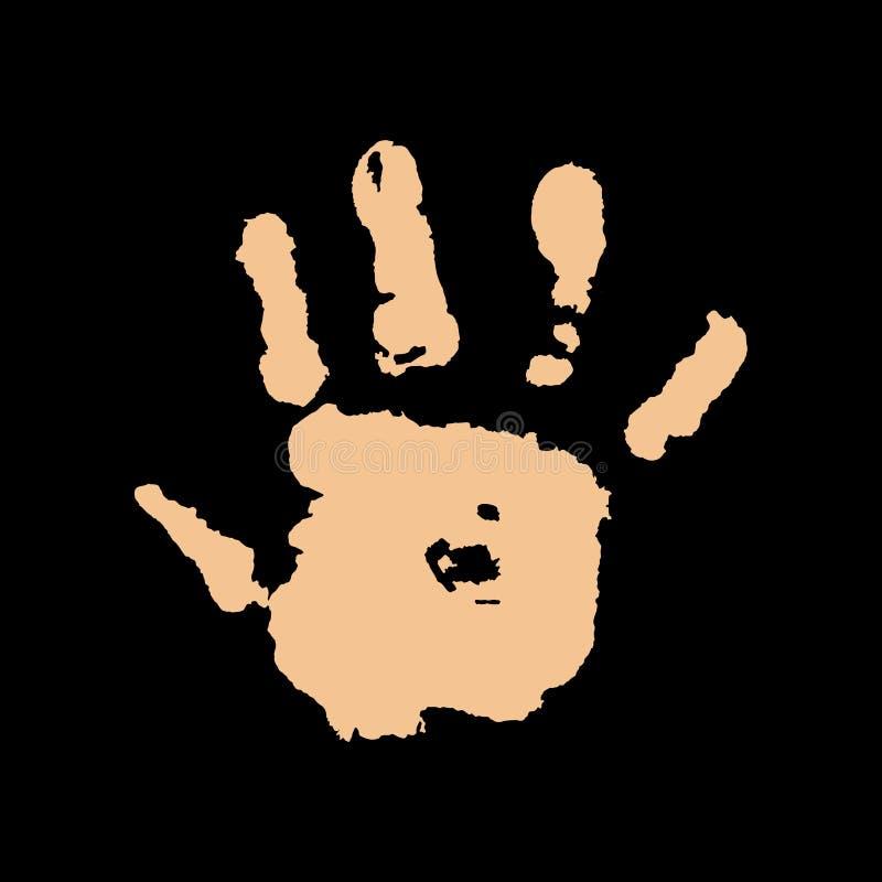 Ανθρώπινο χέρι στο μαύρο διάνυσμα υποβάθρου απεικόνιση αποθεμάτων